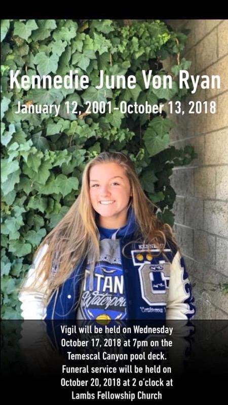 Kennedie June Von Ryan - January 12, 2001 - October 13, 2018